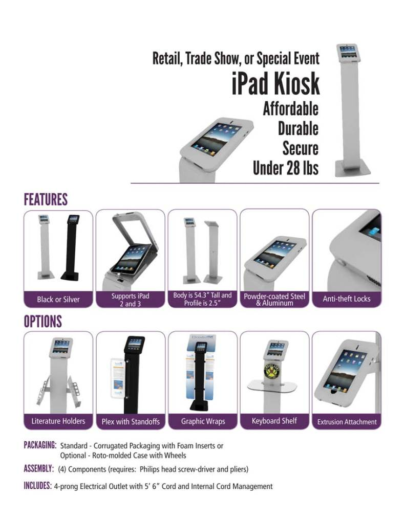 Freestanding Ipad kisk
